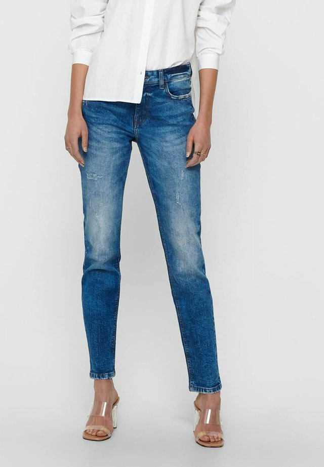 Jeansy Straight Leg - dark blue denim