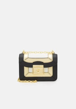 PIECED PEBBLE - Across body bag - black/antique gold-coloured