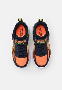 Skechers - FLEX GLOW - Trainers - navy/orange/yellow - 3