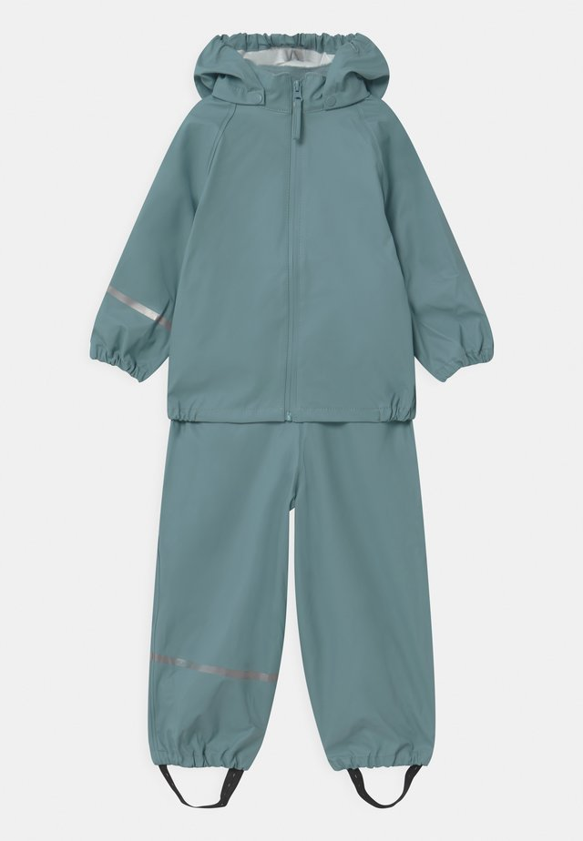 BASIC RAINWEAR SET UNISEX - Regenbroek - smoked blue