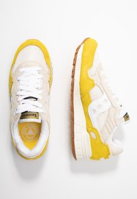 Saucony - SHADOW VINTAGE - Sneakers laag - yellow/tan/white - 3