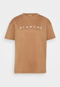 BLANCHE - MAIN CONTRAST - T-shirt imprimé - toasted - 0