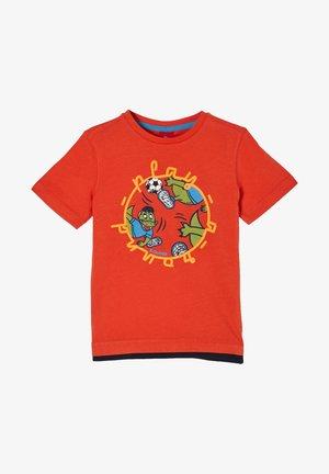 MIT FRONTPRINT - Print T-shirt - dark orange