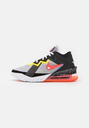 LEBRON XVIII LOW - Basketball shoes - white/bright crimson/black/yellow strike