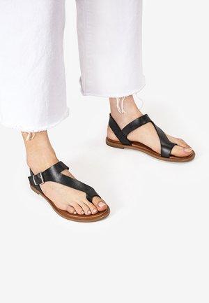 T-bar sandals - black-nature bnt
