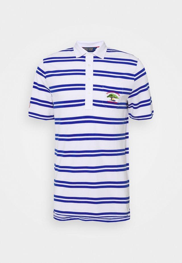 SHORT SLEEVE - Polo shirt - white/bright royal