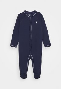 Polo Ralph Lauren - SOLID ONE PIECE COVERALL - Sleep suit - french navy - 0