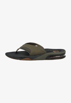 T-bar sandals - olive swells