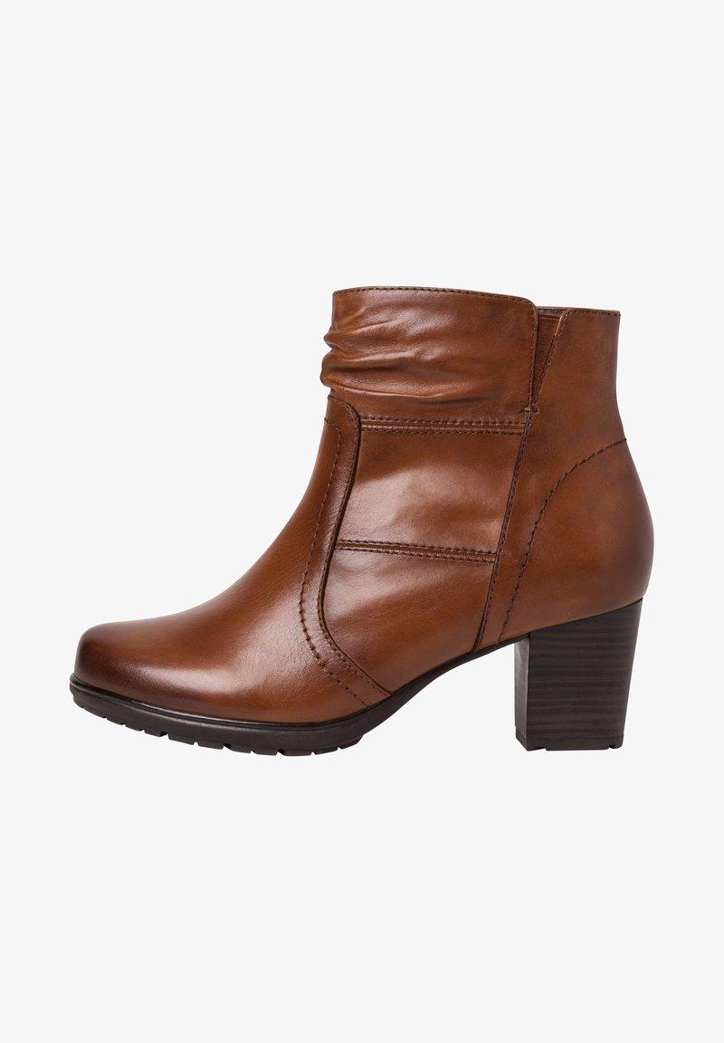 Jana - STIEFELETTE - Ankle boots - cognac