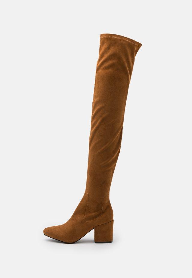KOLA - Over-the-knee boots - cognac