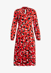 GRAPHIC HEART MIDI - Day dress - red