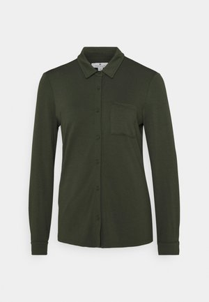 Button-down blouse - dark rosin green