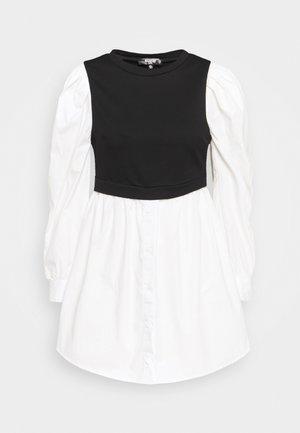 PUFF SHIRT DRESS - Denní šaty - black
