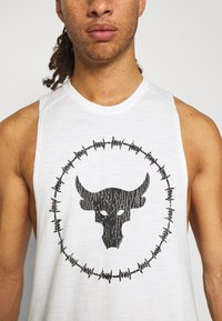 Under Armour - PROJECT ROCK TANK - Toppe - onyx white - 5