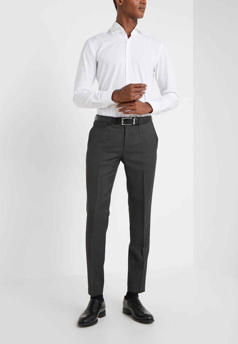 HUGO - HESTEN - Oblekové kalhoty - charcoal