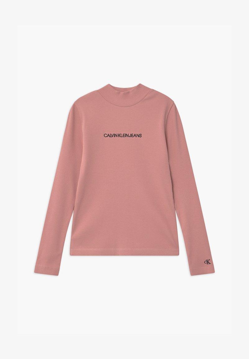 Calvin Klein Jeans - MOCK NECK - Top sdlouhým rukávem - pink