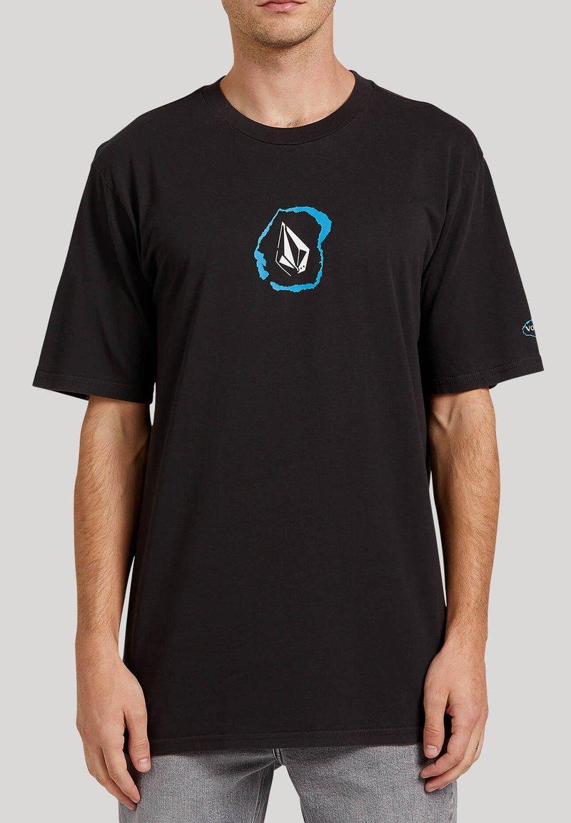Volcom - POSTED S/S TEE - Print T-shirt - black