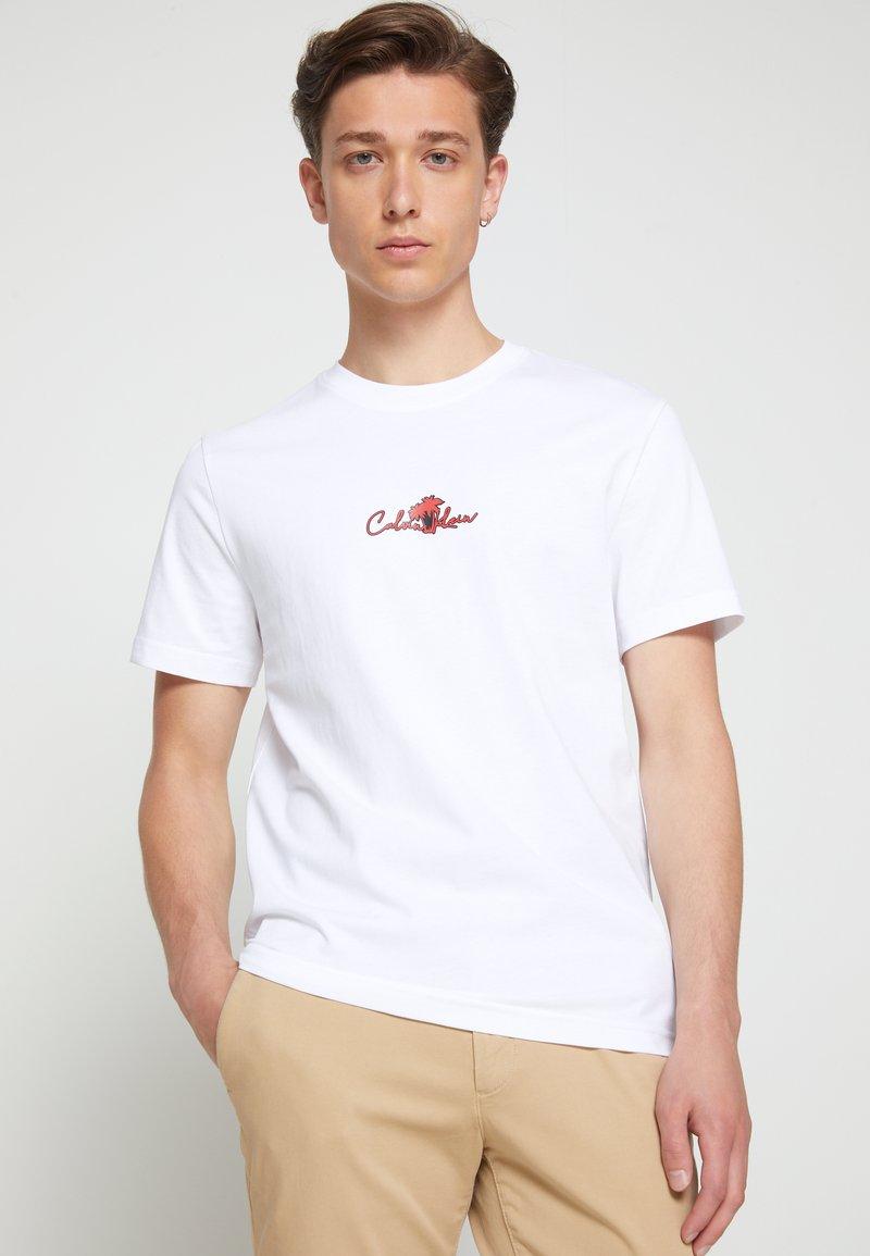 Calvin Klein - SUMMER CENTER LOGO - T-shirt con stampa - white
