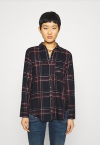 Abercrombie & Fitch - HOLIDAY - Button-down blouse - navy - 0