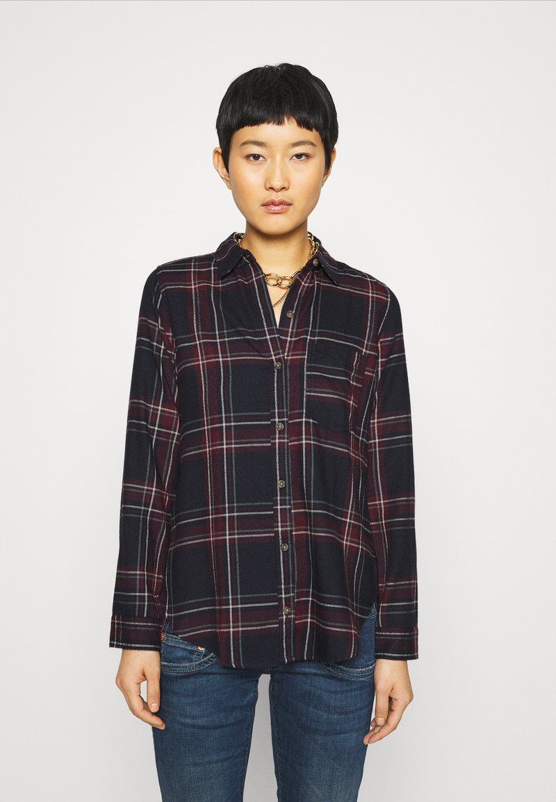 Abercrombie & Fitch - HOLIDAY - Button-down blouse - navy