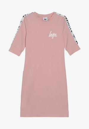 KIDS MIDI DRESS SLEEVE TAPE - Jersey dress - pink