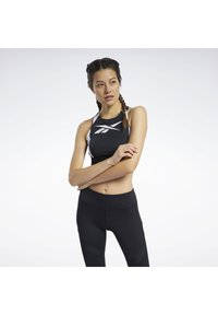 Reebok - WORKOUT READY LOW-IMPACT SPORTS BRALETTE - Sports bra - black - 0