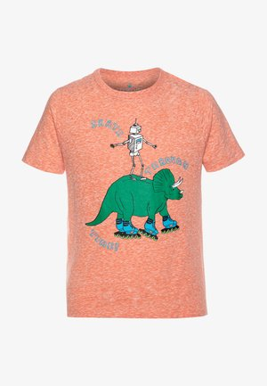 DINO ROBOT TEE ABBOTT - Camiseta estampada - coral