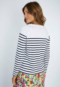 Armor lux - Long sleeved top - blanc/marine deep - 1