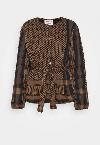 SONIA - Light jacket - black/oak