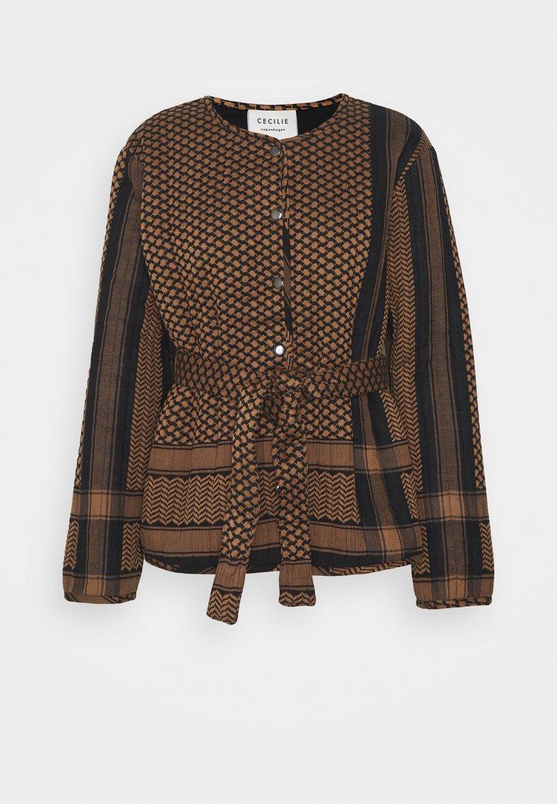 CECILIE copenhagen - SONIA - Light jacket - black/oak