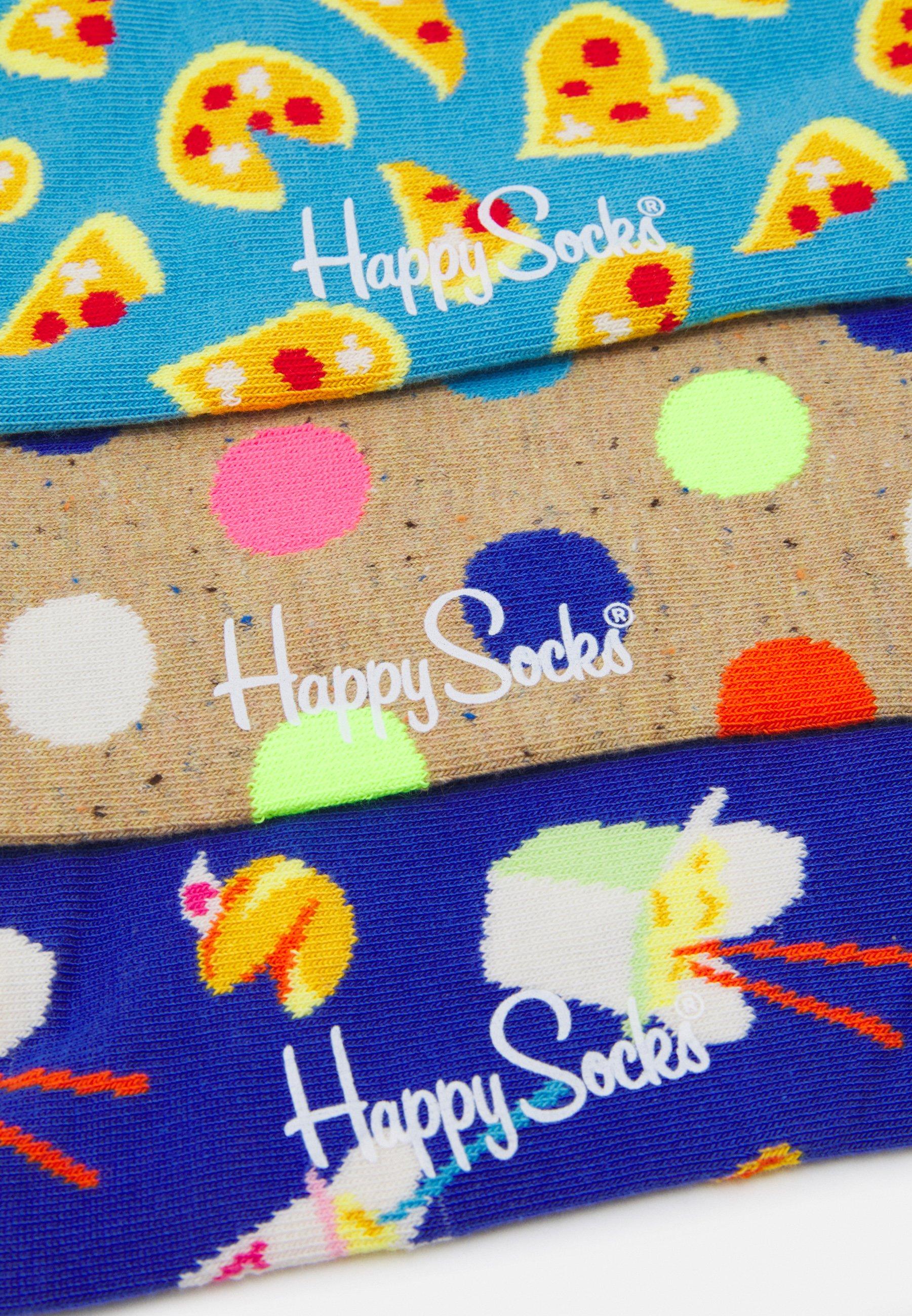 Men PIZZA LOVE 3 PACK UNISEX - Socks
