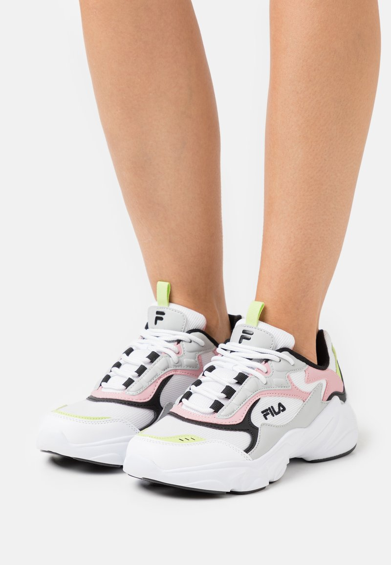 Fila - COLLENE - Joggesko - white/coral blush