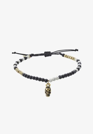 BEADED SKULL DROP BRACELET - Náramek - gold-coloured