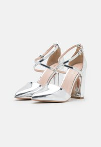 RAID Wide Fit - WIDE FIT KATY - High heels - silver mirror - 2