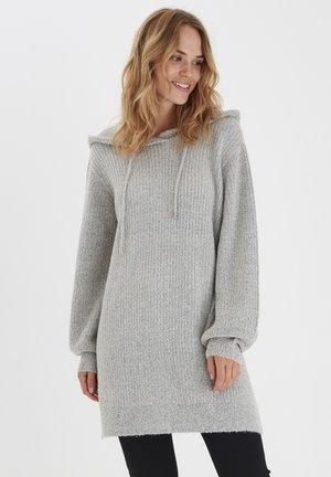 BYNORA - Stickad tröja - mid grey melange