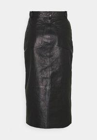 EDITED - CARA SKIRT - Leather skirt - schwarz - 1