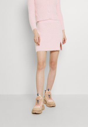 SKIRT WITH SPLIT - Mini skirt - pale pink