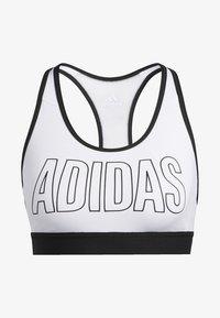 adidas Performance - DON'T REST ALPHASKIN BRA - Urheiluliivit: keskitason tuki - white - 7
