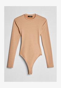 Bershka - MIT SCHULTERPOLSTERN - Long sleeved top - beige - 4