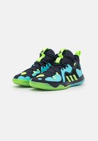 adidas Performance - HARDEN STEPBACK 2 BASKETBALL BOUNCE SHOES - Zapatillas de baloncesto - legend ink/signal green/pulse aqua - 1