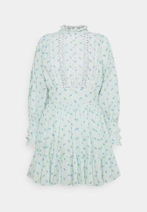 SLUB MINI DRESS - Shirt dress - light blue