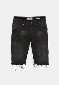 Redefined Rebel - RROSAKA - Denim shorts - marble black - 4