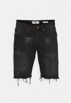 RROSAKA - Denim shorts - marble black