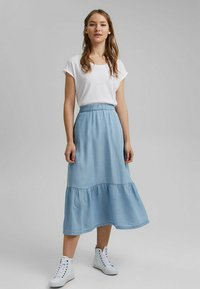 edc by Esprit - A-line skirt - blue light washed - 1