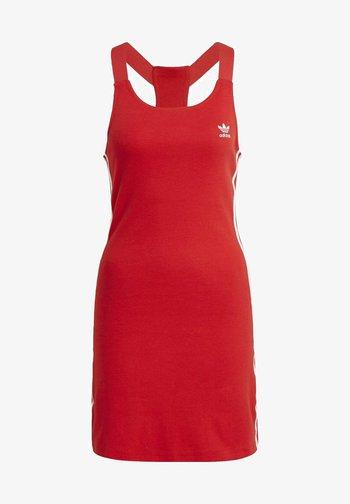 RACER DRESS - Jersey dress - scarlet