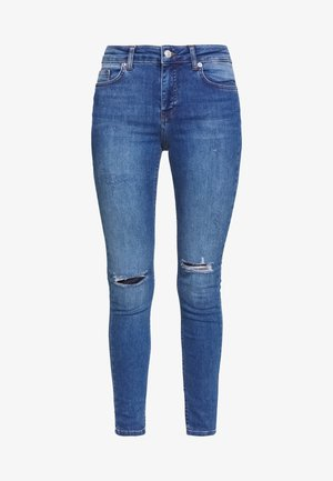 MID WAIST DESTROYED - Jeans Skinny Fit - mid blue