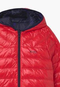 BOSS Kidswear - REVERSIBLE PUFFER - Down jacket - red/blue navy - 3