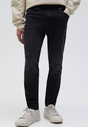 Slim fit jeans - mottled dark grey