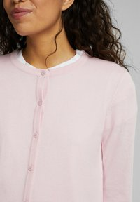 edc by Esprit - CORE ROUND NECK CARDIGAN - Cardigan - light pink - 5