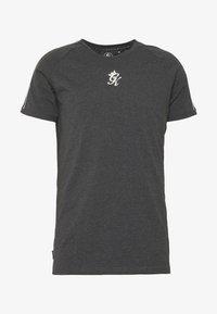 WITH TAPING - Camiseta estampada - charcoal marl/black